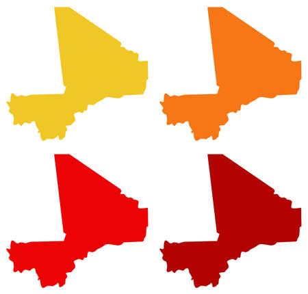 vector illustration of Mali map