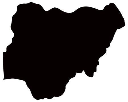 vector illustration of Nigeria map  イラスト・ベクター素材