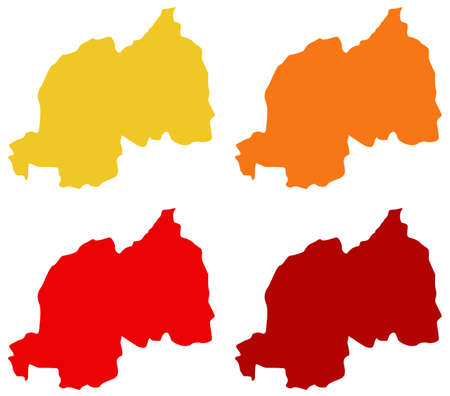 vector illustration of Rwanda map