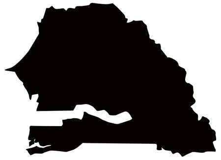 vector illustration of Senegal map