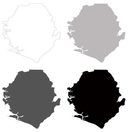 vector illustration of Sierra Leone map
