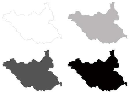 vector illustration of South Sudan map Vector Illustratie