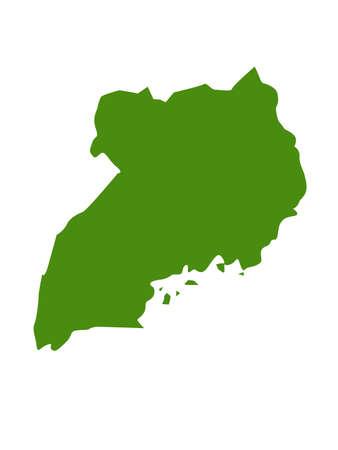 vector illustration of Uganda map Vector Illustratie