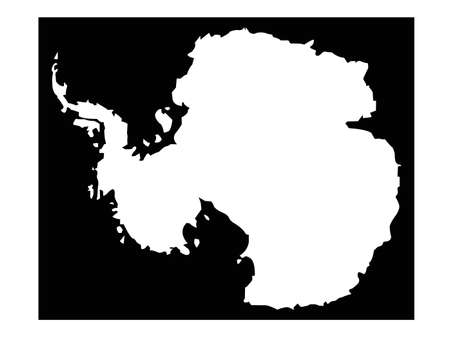 vector illustration of Antarctica map