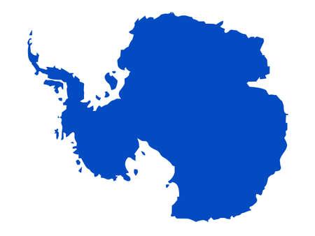 vector illustration of Antarctica map Vecteurs