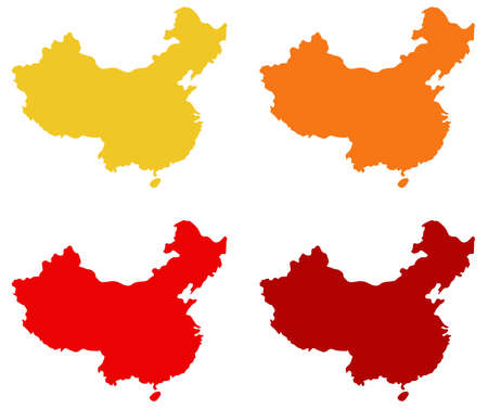 vector illustration of China map
