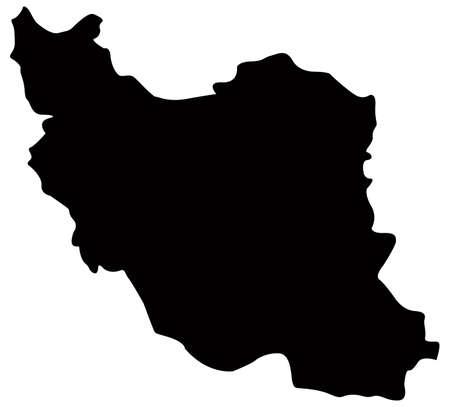 vector illustration of Iran map Vector Illustration