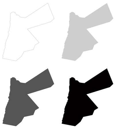 vector illustration of Jordan map