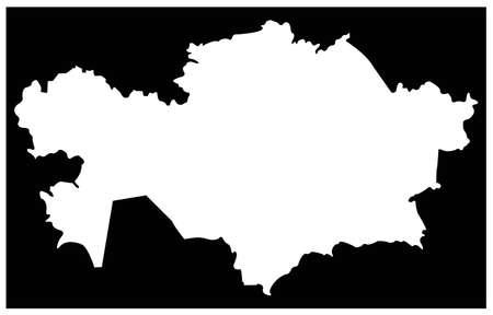 vector illustration of Kazakhstan map