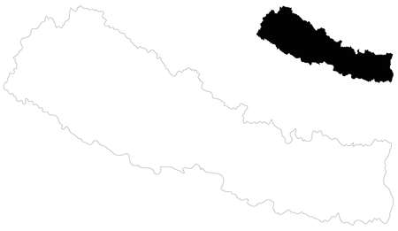 vector illustration of Nepal map