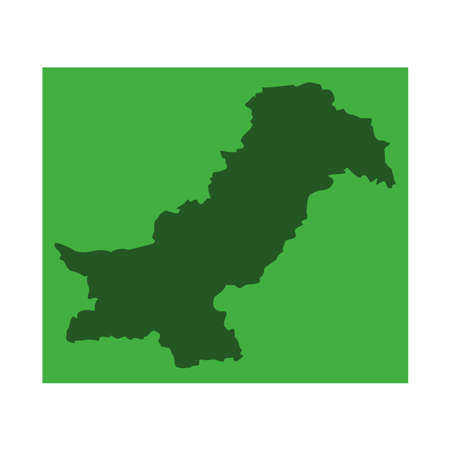 vector illustration of Pakistan map