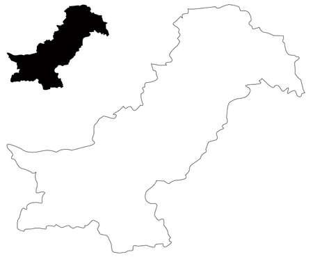 vector illustration of Pakistan map