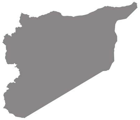 vector illustration of Syria map