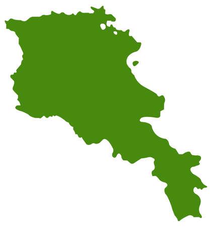vector illustration of Armenia map