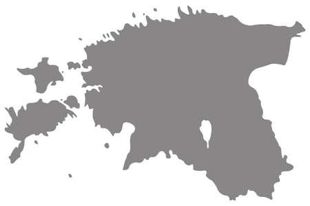 vector illustration of Estonia map