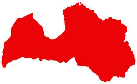 vector illustration of  Latvia map