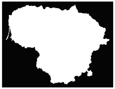 vector illustration of Lithuania map