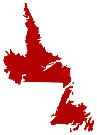 vector illustration of Newfoundland and Labrador map, province or territory in Canada Vecteurs