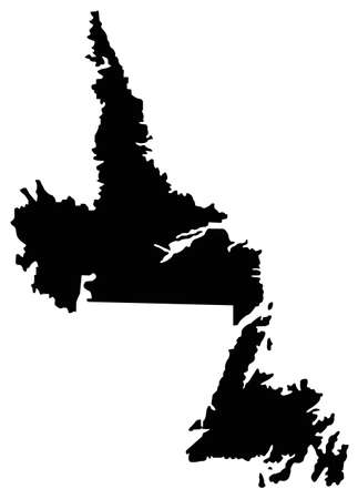 vector illustration of Newfoundland and Labrador map, province or territory in Canada