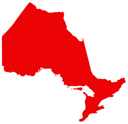 vector illustration of Ontario map, province or territory in Canada  イラスト・ベクター素材
