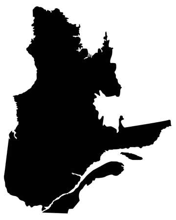 vector illustration of Quebec map, province or territory in Canada  イラスト・ベクター素材