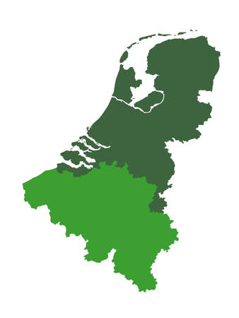 Vector illustration of Netherlands and Belgium map 向量圖像
