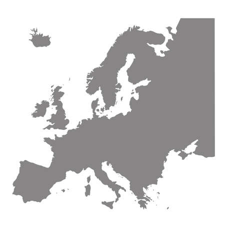 Vector illustration of Europe Continent map