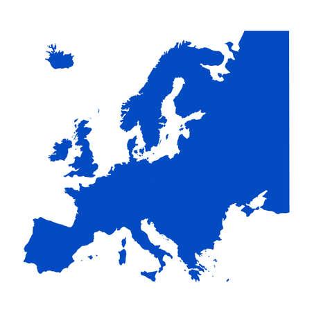 Vektor-Illustration der Europa-Kontinentkarte