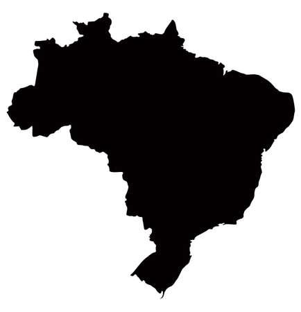 vector illustration of Brazil map