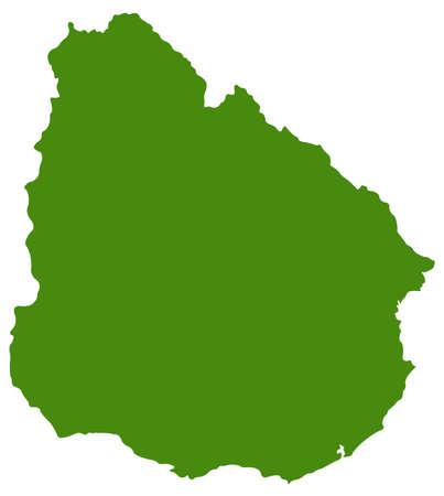 vector illustration of Uruguay map  イラスト・ベクター素材