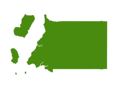 vector illustration of Equatorial Guinea map 向量圖像