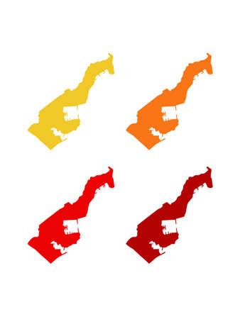 vector illustration of Monaco map, city-state Illustration