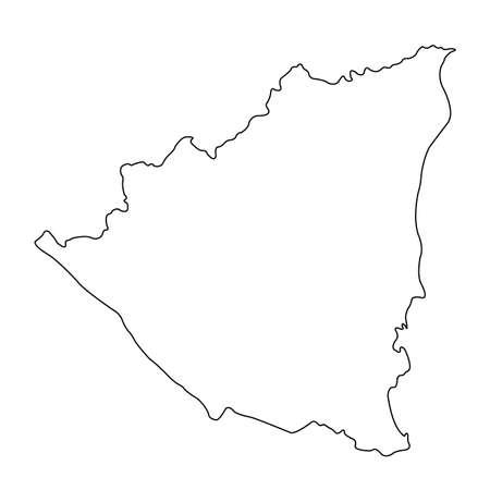 vector illustration of Nicaragua map Vetores