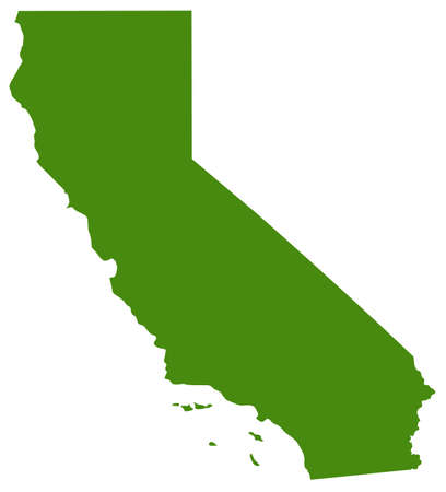 vector illustration of map of California - U.S. state