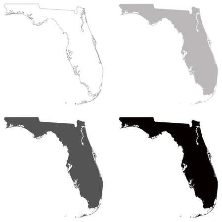 Vector illustration de la carte de la Floride - État américain