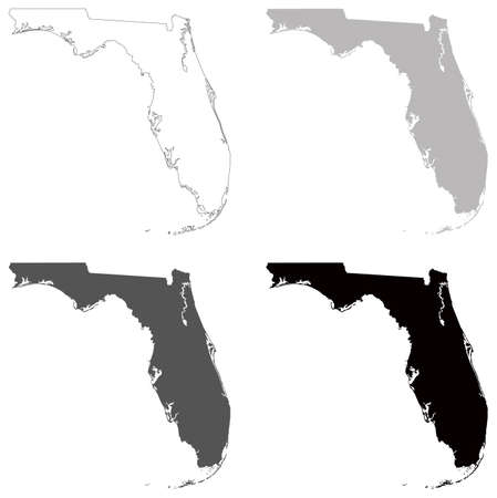 vector illustration of map of Florida - U.S. state
