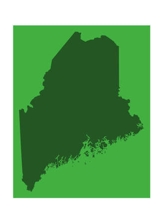 vector illustration of map of Maine - U.S. state