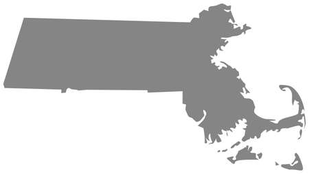 vector illustration of map of Massachusetts - U.S. state 向量圖像