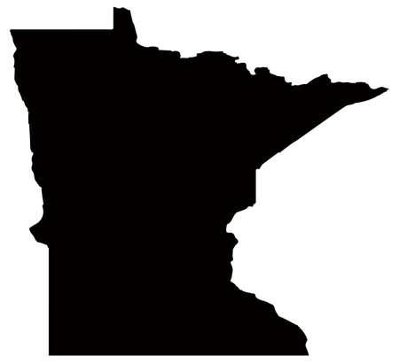 Vector illustration de la carte du Minnesota - État américain Vecteurs