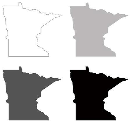 vector illustration of map of Minnesota - U.S. state 矢量图像