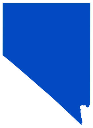 vector illustration of map of Nevada - U.S. state