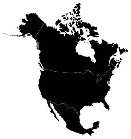 vector illustration of North America Continent map  イラスト・ベクター素材
