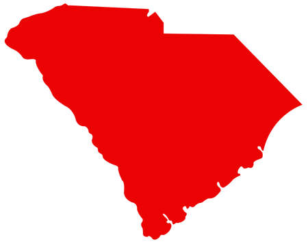 vector illustration of map of South Carolina - U.S. state