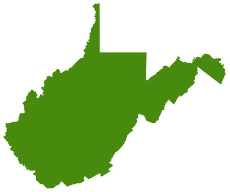 vector illustration of map of West Virginia - U.S. state