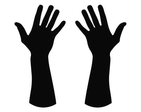 illustrazione vettoriale della sagoma della mano