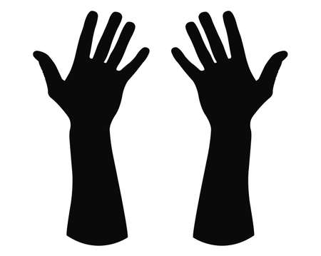 vector illustration of hand silhouette