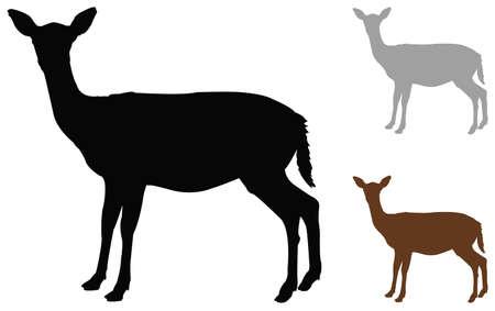 illustration vectorielle de silhouette de biche
