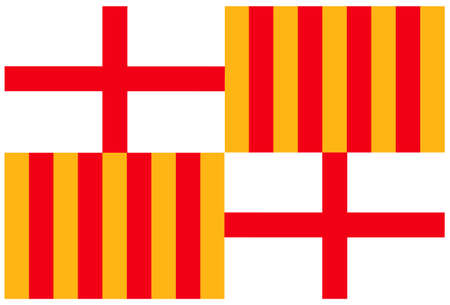 illustration of Barcelona flag