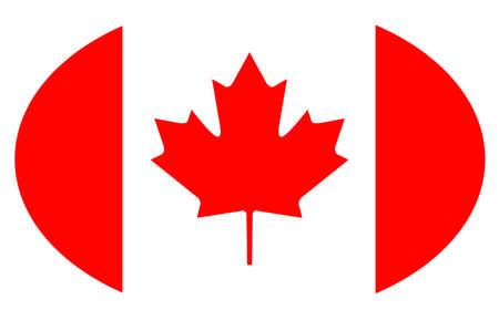 vector illustration of Canada flag