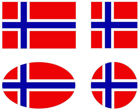 vector illustration of Norway flags